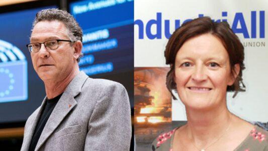 Συνάντηση του Κ. Αρβανίτη με την αναπλ. Γ. Γ. του industriAll Isabelle Barthes