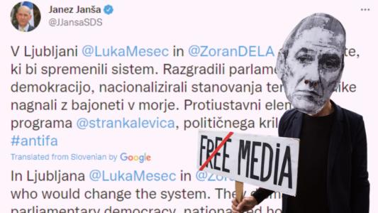 Ακροδεξιές χυδαιότητες στο Twitter από τον Σλοβένο Πρωθυπουργό – Αρνείται να συναντήσει Αντιπροσωπεία του Ε/Κ