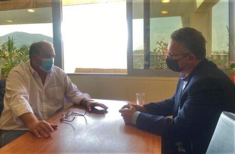 Συνάντηση Κ. Αρβανίτη με τον Δήμαρχο Χαλανδρίου, Σίμο Ρούσσο